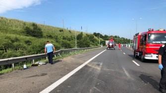 La accident a intervenit și elicopterul SMURD Constanța. FOTO SAJ Constanța