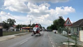 Elicopterul SMURD a fost solicitat la locul accidentului. FOTO SAJ Constanța
