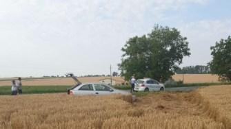 În urma impactului frontal, patru persoane au fost rănite. FOTO CTnews.ro