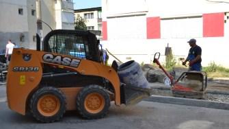 Lucrări de asfaltare în Cernavodă. FOTO Ctnews.ro