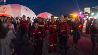 Cadrele medicale SMURD au intervenit la mai multe solicitări în cadrul festivalului NEVERSEA. FOTO Cătălin SCHIPOR