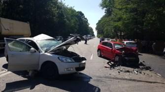 O persoană a decedat în urma accidentului de pe DN3, din dreptul Popasului. FOTO IPJ Constanța