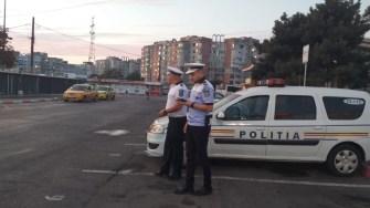 Mai multe echipaje de poliție au participat la acțiunea din zona Gării CFR. FOTO CTnews.ro