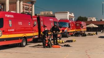 Scafandrii ISU Dobrogea, pregătiți să intervină. FOTO ISU Dobrogea