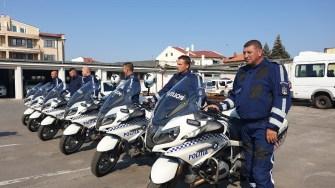 Echipajele moto au primit echipament de protecție nou. FOTO IPJ Constanța