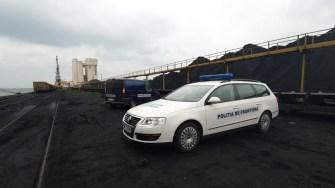 Polițiștii de frontieră în Portul Constanța. FOTO Poliția de Frontieră