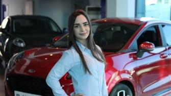 Andreea Ionescu, consilier de vânzări la Ford Alliance Auto Constanța. FOTO Adrian Boioglu