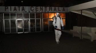 Acțiune de dezinfecție în Medgidia, FOTO Primăria Medgidia
