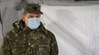 Coordonatorul spitalului militar mobil de la Constanța, Nicolae Cătălin Boca. FOTO Adrian Boioglu