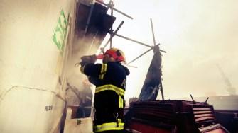 Intervenția la bordul navei a fost dificilă. FOTO ISU Dobrogea