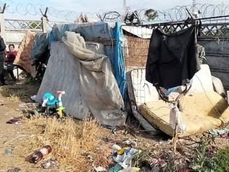 Adăposturi improvizate abuziv pe domeniul public în Inel 1, dezafectate. FOTO Polaris M Holding