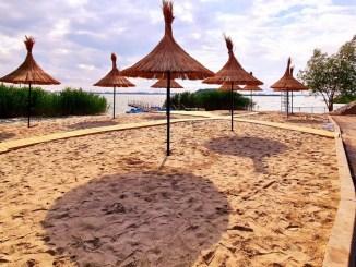 Plaja de la Ovidiu. FOTO Primăria Ovidiu