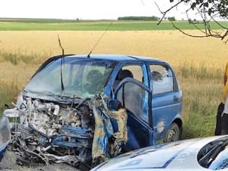 Grav accident rutier petrecut între Ciocârlia și Cobadin. FOTO IPJ Constanța