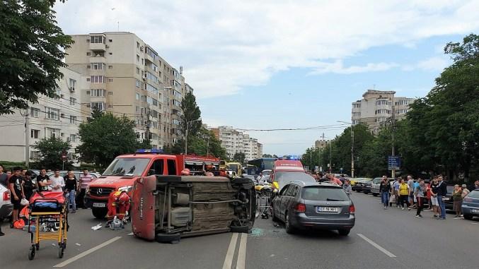 Grav accident rutier petrecut pe strada Soveja din Constanța