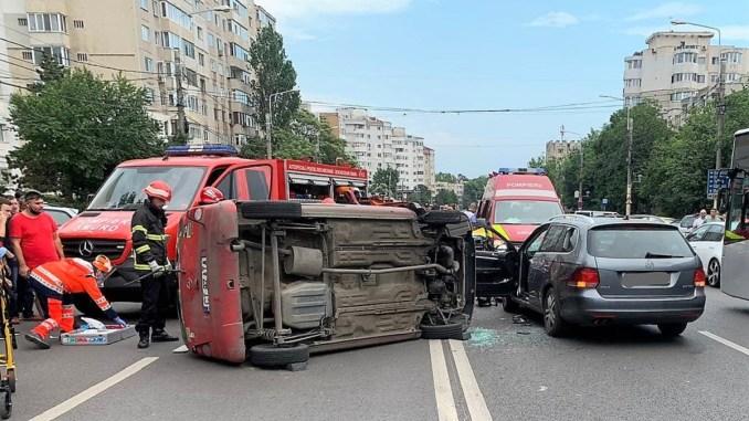 Grav accident rutier petrecut pe strada Soveja din Constanța. FOTO IPJ Constanța