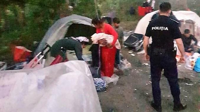 Nomazii de pe Valea Portului, trimiși acasă. FOTO Primăria Constanța