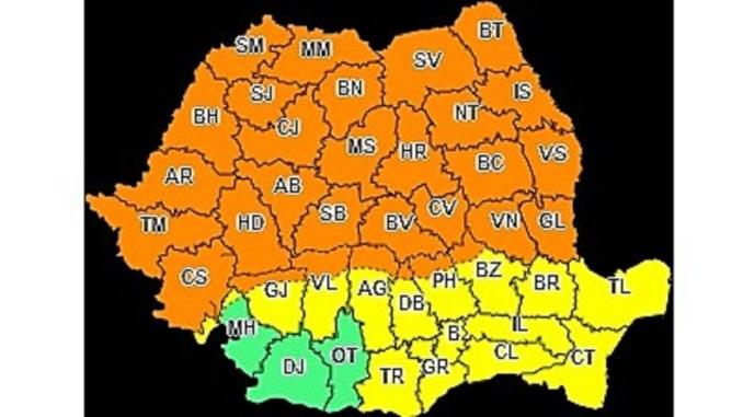 Cod Galben, valabil pentru județul Constanța până marți, 23 iunie, ora 10.00. FOTO ANM