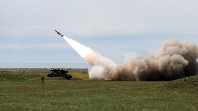 Tragerile cu rachete sol-aer, reluate la Capu Midia. FOTO C.N.I.Ap.AA