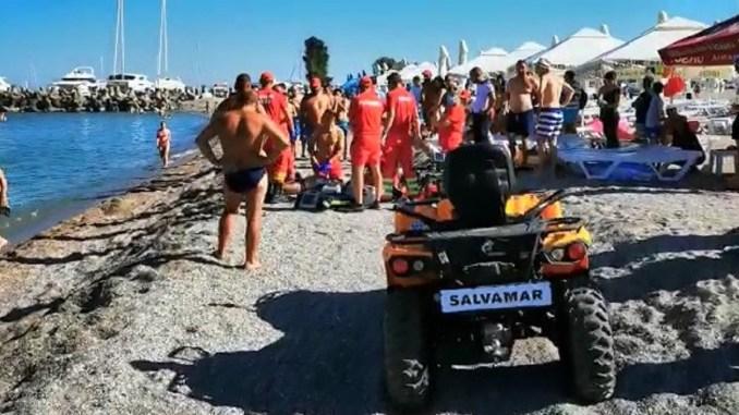 Bărbat de aproximativ 50 de ani, înecat pe o plajă din Eforie Nord