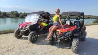 ATV-urile pot fi închiriate în zona Mamaia Nord. FOTO ATVENTURES