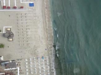 Suprafață de plajă monitorizată din dronă. FOTO ABADL
