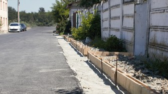 Lucrări la drumurile din Mircea Vodă. FOTO Paul Alexe