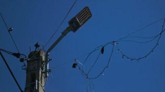 Iluminatul public în Aliman. FOTO Paul Alexe