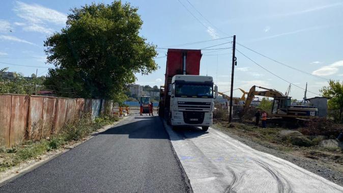 Străzi asfaltate la Cernavodă. FOTO Primăria Cernavodă