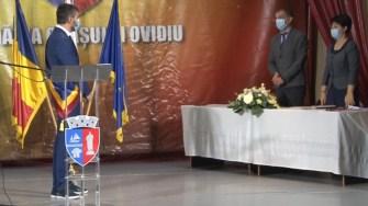 Ceremonia de învestire a primarului din Ovidiu, Geoge Scupra