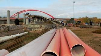 Lucrări la stadionul din Cernavodă. FOTO Paul Alexe