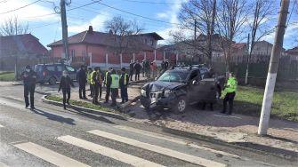 Trei mașini avariate într-un accident rutier petrecut în Ovidiu. FOTO IPJ Constanța