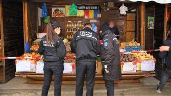 Raiul tarabagiilor din Piața Tomis III, în atenția polițiștilor locali. FOTO DGPL