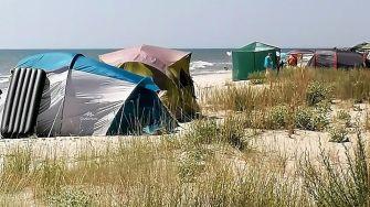 Afluență de turiști pe plajele sălbatice din sudul Rezervației Biosferei Delta Dunării
