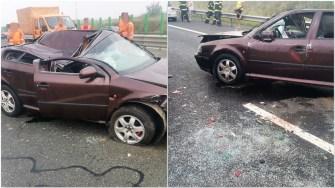 Accident în lanț pe Autostrada Soarelui. FOTO DRDP Constanța