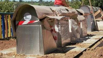 Primăria Cernavodă amenajează platforme subterane de gunoi. FOTO Paul Alexe