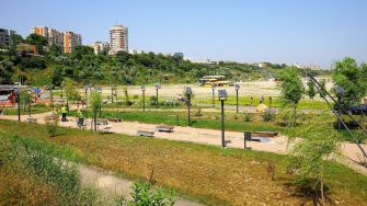 Parc dedicat fitnessului, amenajat pe plaja Modern. FOTO Primăria Constanța