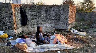 Adăposturi improvizate dezafectate de polițiștii locali. FOTO DGPL Constanța