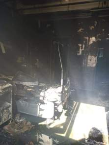 Secția ATI de la Spitalul de Boli infecțioase Constanța, complet distrusă în incendiu