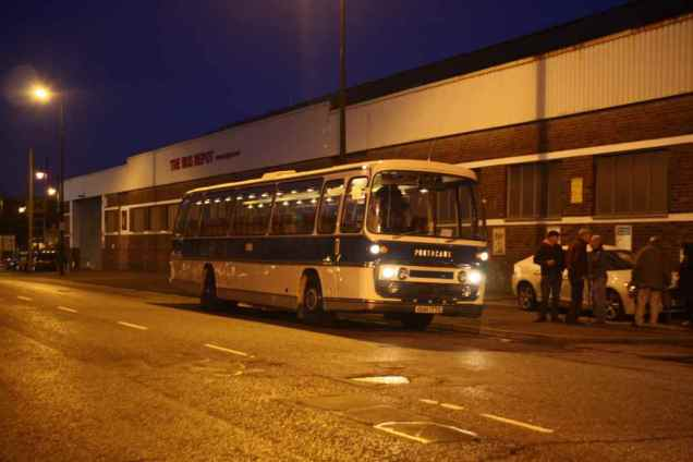 And so to bed, 177 seen at 10pm outside Barry Depot after a spirited return from our evening in Porthcawl
