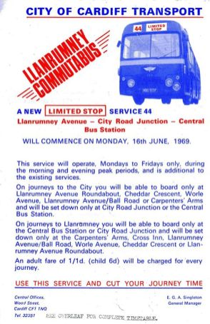Commute bus leaflet for a new service featuring the Swift