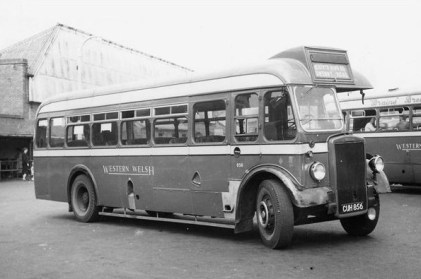 Western Welsh PS1 856 at Bridgend circa 1955