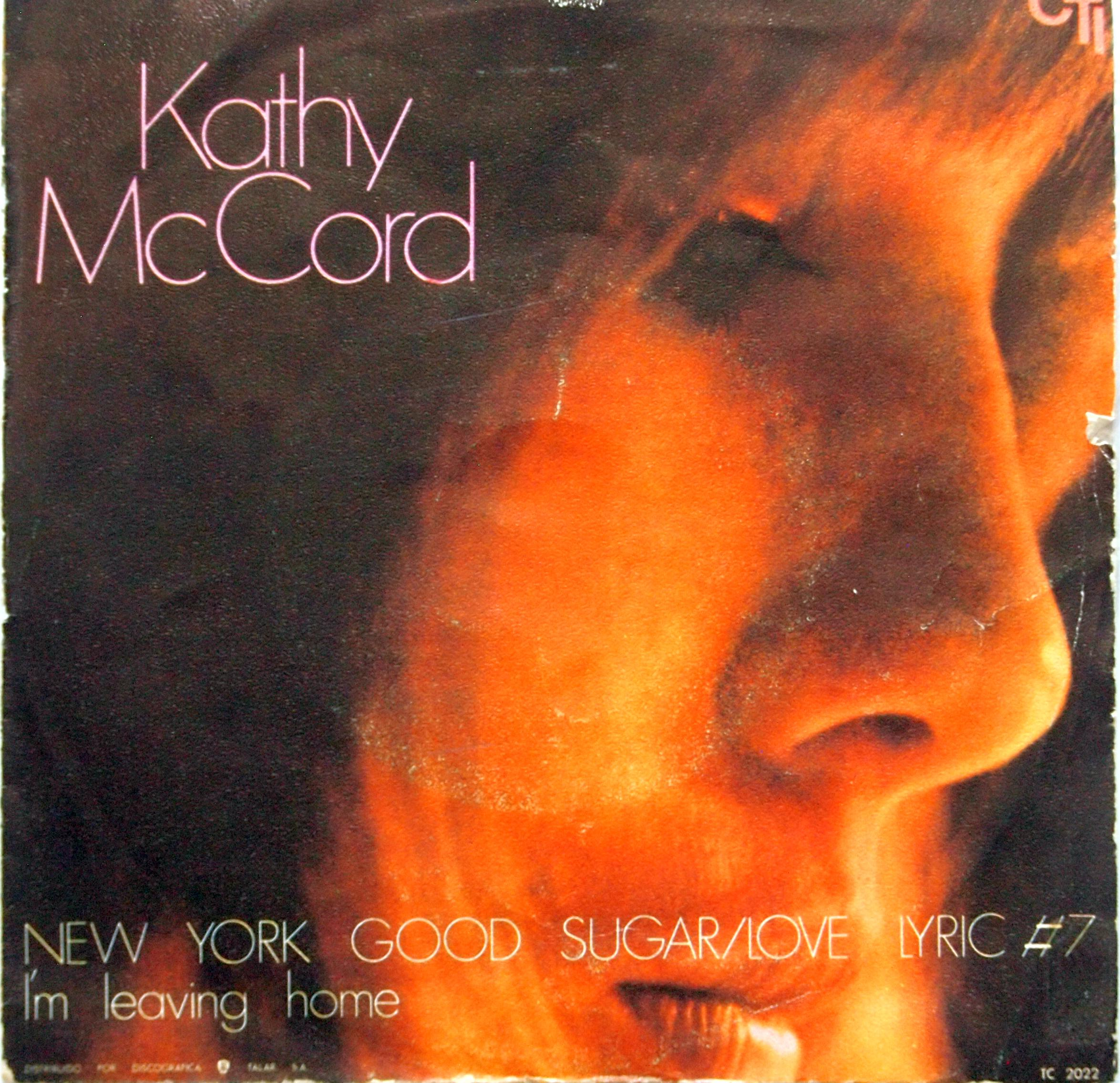 Picture cover of Spanish release of Kathy McCord single
