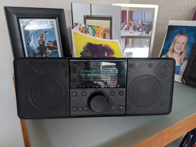 The Logitech BoomBox in the Office