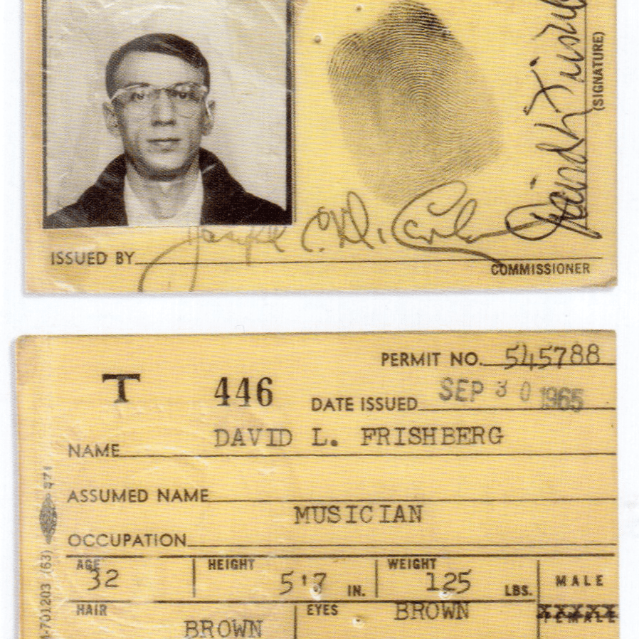 Dave's 1965 Union Card