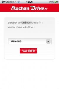 application auchan drive choix magasin