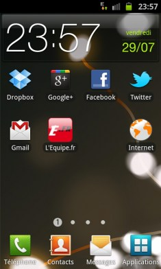 ecran acceuil android