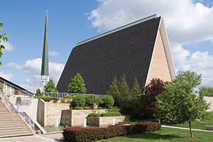 Kramer Chapel on a sunny day