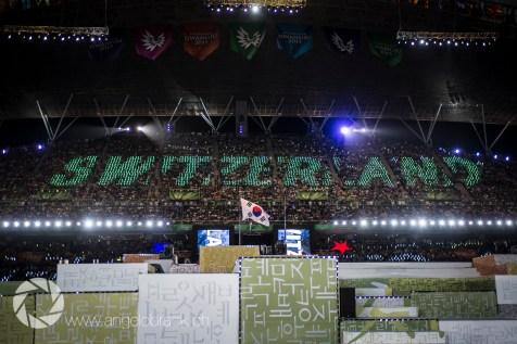 La cérémonie d'ouverture avec 40'000 spectateurs