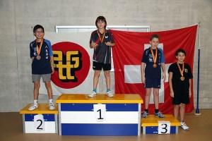 Simple U13: 2ème Yardel HURTADO, 3ème Johan DOUTAZ