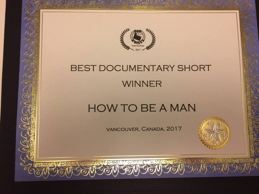 Best Documentary Short Award for How To Be a Man